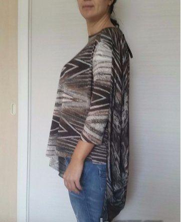Нова макси блуза / туника за пълни едри дами Manuela - XXL