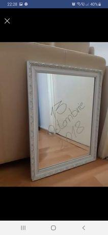 Oglinda mireasa  cu rama alba