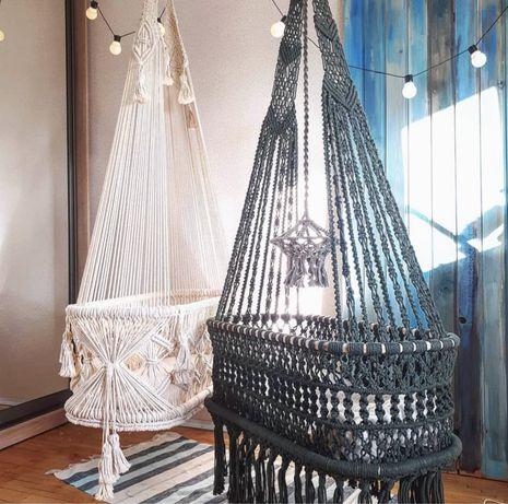 Подвесное кресло качели и колыбель в стиле макраме
