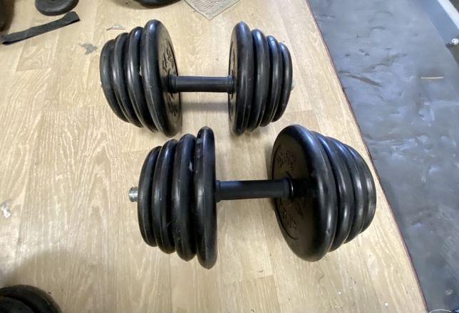 Super gantere reglabile profi cauciucate noi set 30 kg-15 kg+15 kg=30