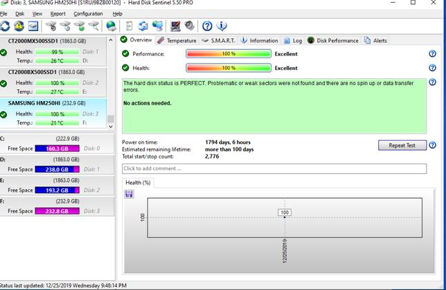 hard disk samsung 250gb laptop