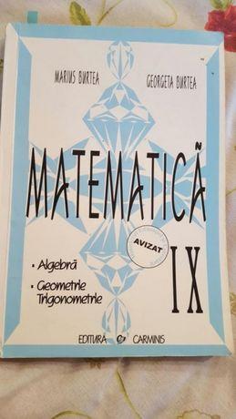 Culegere de matematica clasa a IX
