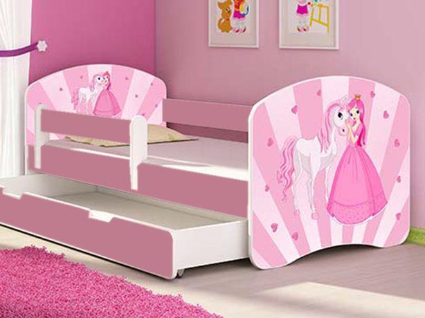Patut copii Tineret MyKids Poney-Princess cu Sertar si Saltea 140x70