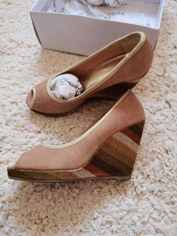Pantofi piele decupați Il Passo