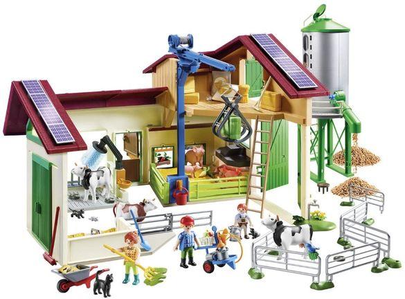 PLAYMOBIL Голяма Селска Ферма с Животни Машини и Аксесоари