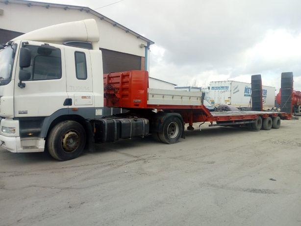Prestari servicii transport cu trailer pentru utilaje grele
