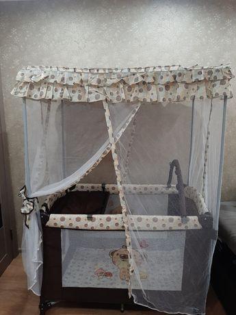 Кровать - игровой манеж, от рождения до 5 лет