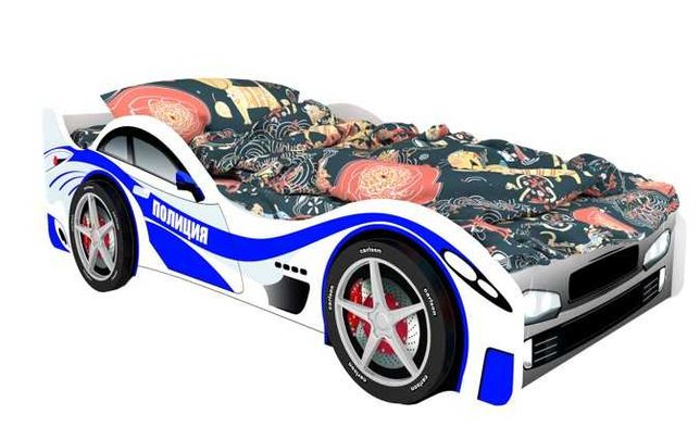 Детская кровать машина Полиция