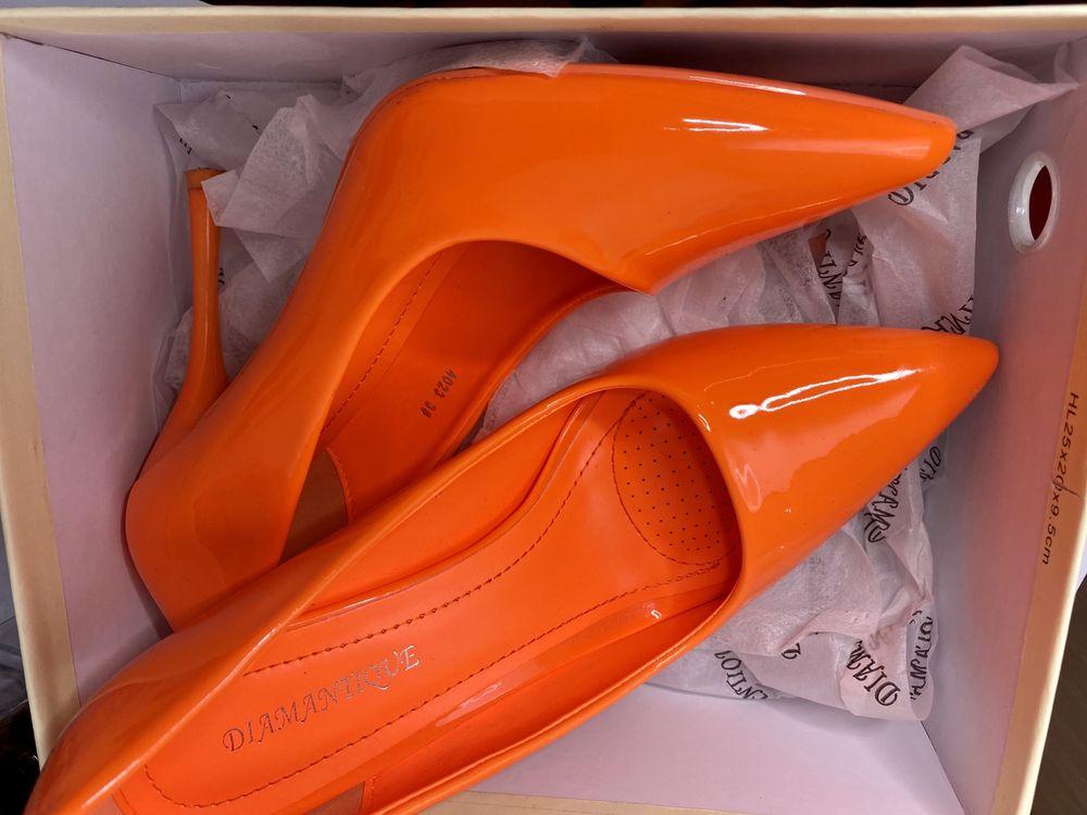 Pantofi Stiletto Portocalii