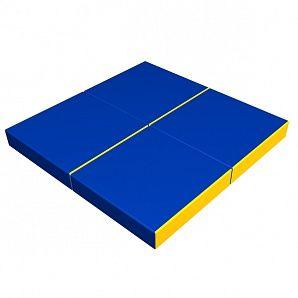 Мат детский складной сине-жёлтый Romana, 1000х1000х100 мм,