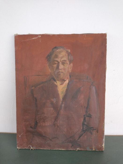 Tablou vechi pictura pe pânză 54 x 70 cm Cluj-Napoca - imagine 1