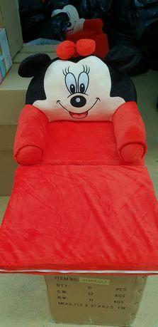Fotoliu plus extensibil 3D Micky & Minnie Mouse,rosu,cu buline,Frozen