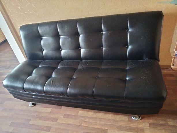 Диван и кресло цвет чёрный