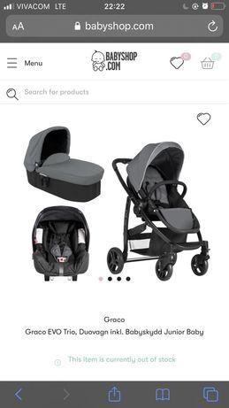 Graco Evo детска количка 3 части