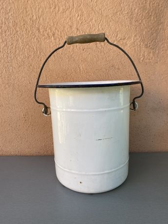 Стара френска емайлирана кофа 10 литра