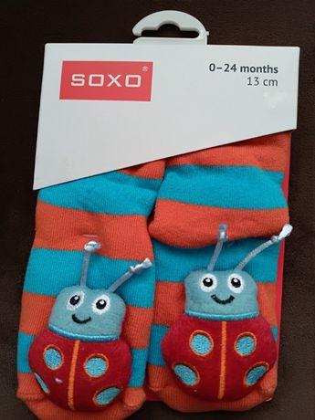 Бебешки чорапки с дрънклка подарък бебе