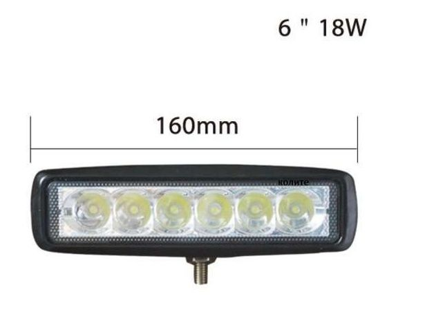 Led auto proiector SPOT/FLOOD( lumina de lucru)18W/16 cm/6 led/10V-30V