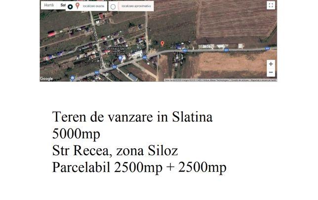 Vand teren 5000 metri patrati zona Siloz Slatina Olt parcelabil 2500mp