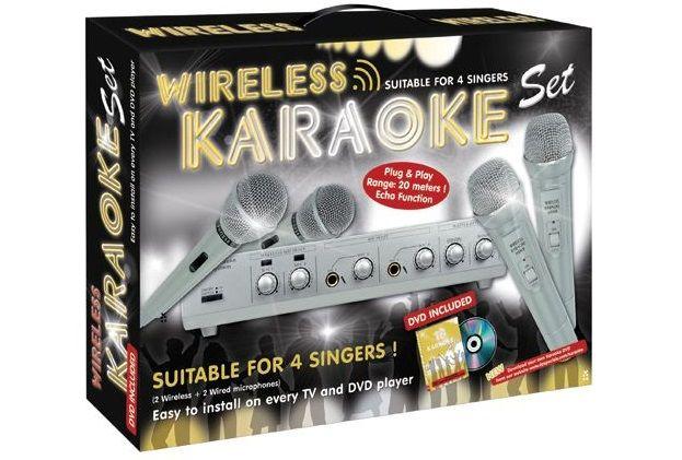 Set Karaoke Wireless – 4 microfoane