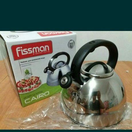 Чайник со свистком Fissman. Новый.