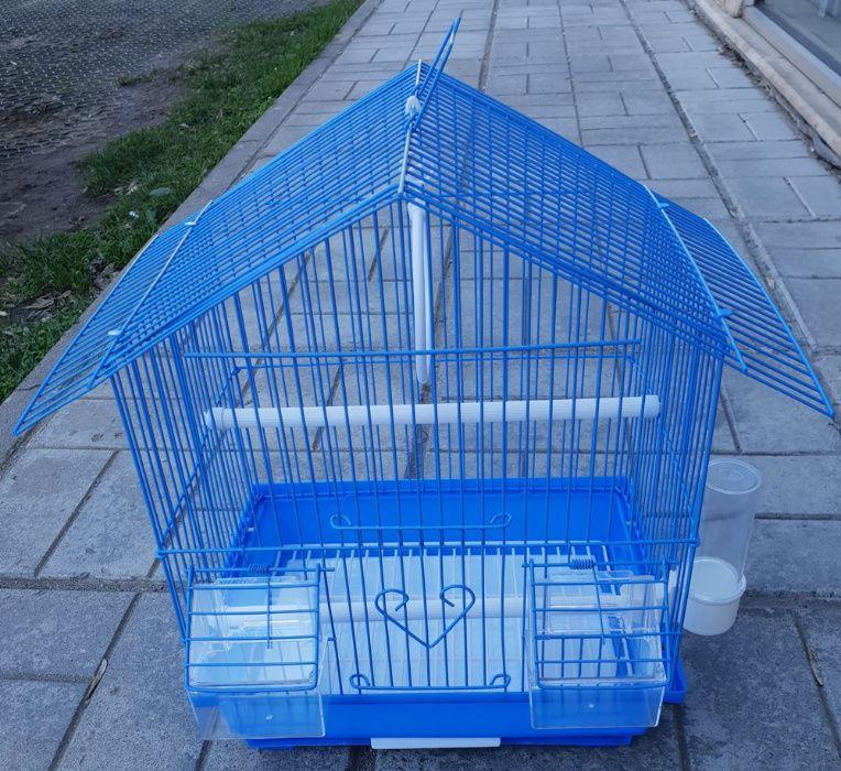 Клетка за папагали птици малка M къщичка 000102 за 1 или няколко броя