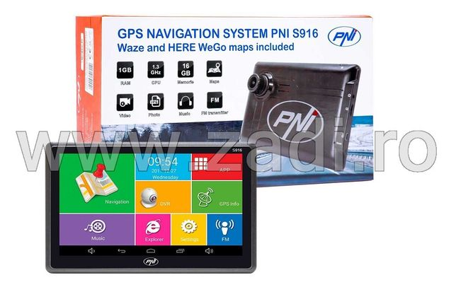 GPS S916- android, 1.3ghz,16gb, Camera DVR- garantie