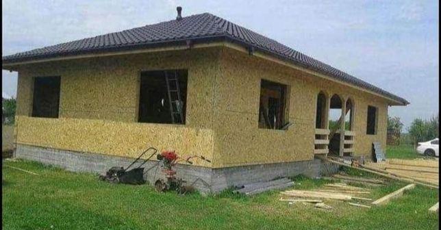 Vand/fac case modulare din lemn