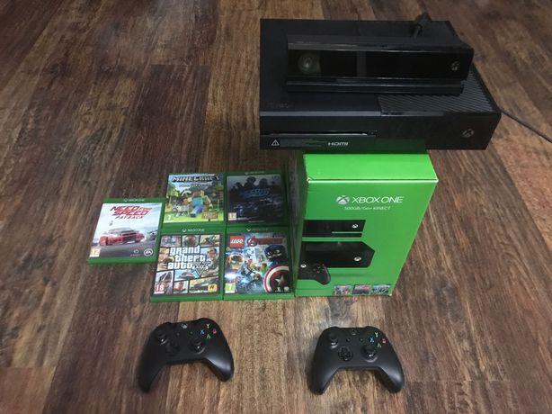 Vand Xbox One 500GB/One, cu kinect 2 console si jocuri