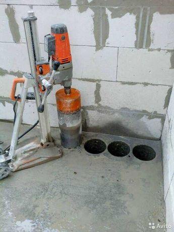 Алмазное бурение ж/бетона отверстия резка проемов