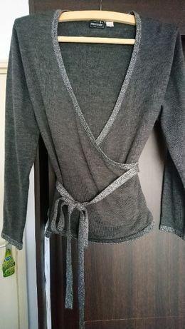 Pulover gri-argintiu