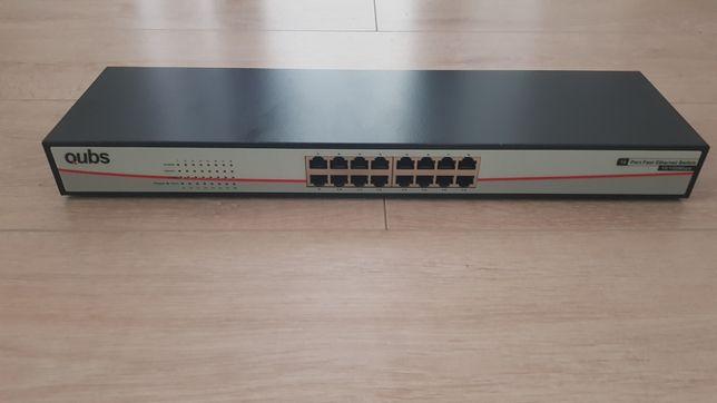 "Switch Qubs 16 porturi 10/100Mbps 19"" Rack"