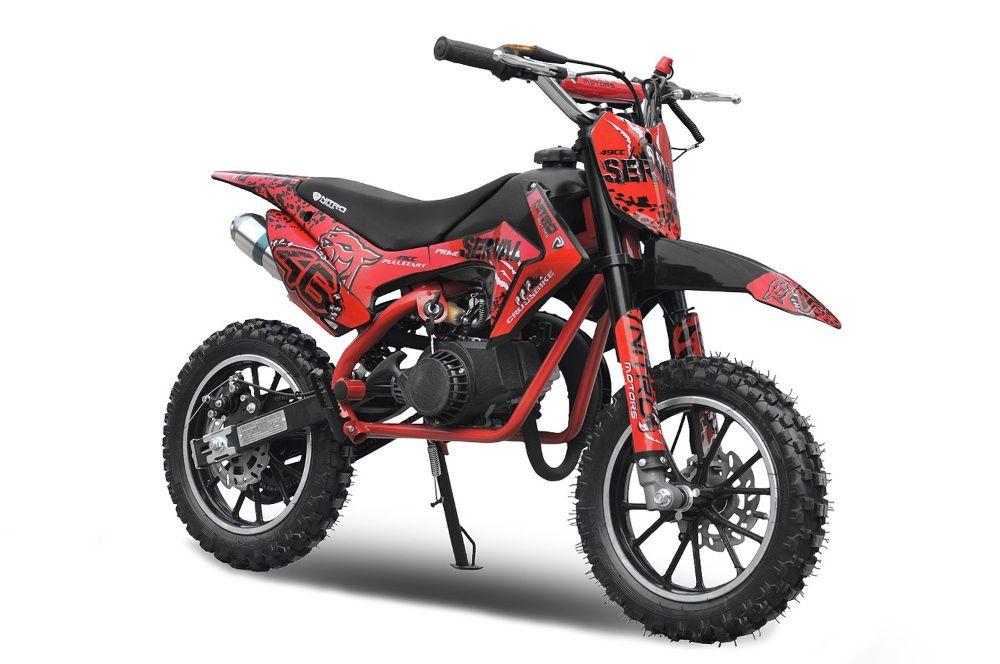 Mini motocicleta electrica NITRO Eco Serval 500W 10/10 #Rosu Covasna - imagine 1