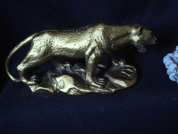Пантера статуэтка под золото около 20 см тяжелая Новая