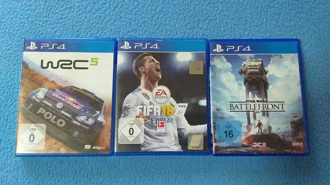 Jocuri PS4: Star Wars BATTLEFRONT, FIFA 18, WRC 5