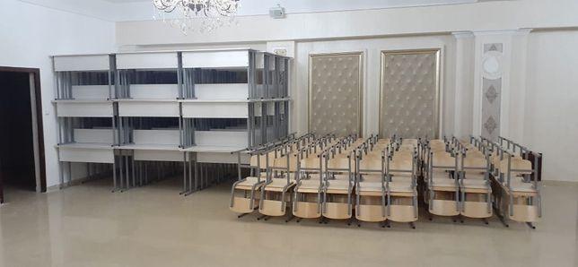 Школьная парта двухместная и два стула