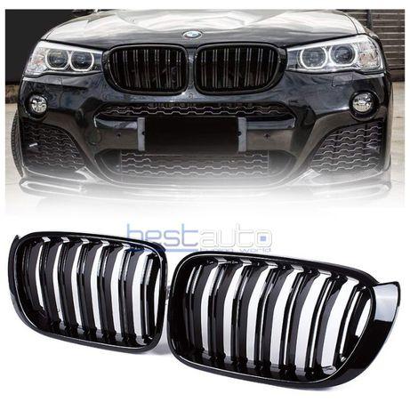 Бъбреци за BMW X3 F25 (2010-2014) Черен Гланц Двойни