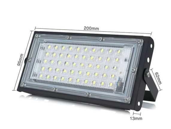 Reflector Panou LED 50W Lumina Rece subtire reglabil IP65