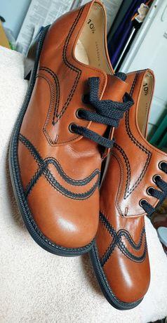 Pantofi piele maro deschis noi