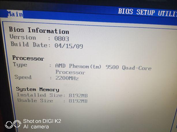 Placa baza PC Calculator procesor Phenom 9500 quad core 8gb