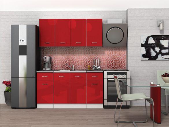Кухня Алис 9 червен гланц