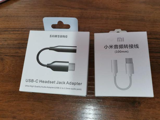 Адаптер Samsung, Type-C - 3,5 мм для наушников Xiaomi, Huawei, iPhone
