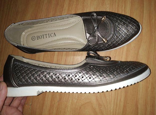 Обувь 40р балетки туфли замшевые