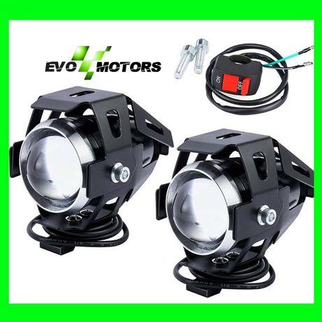 Set Proiectoare Led Motocicleta Atv Auto Lumini Ceata Waterproof A410