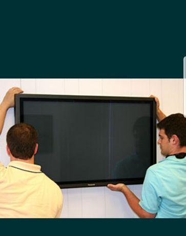 Установка, подвеска телевизора на стену