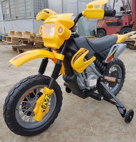 Motocicleta electrica pentru copii 2-5 ani Enduro 30W 6V #Galben