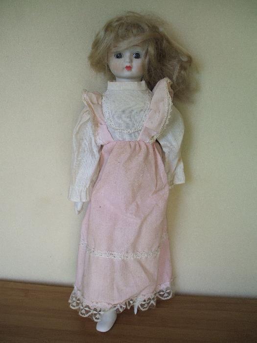 Papusa - cap, mainile, picioare din portelan - veche, 47 cm Santana - imagine 1