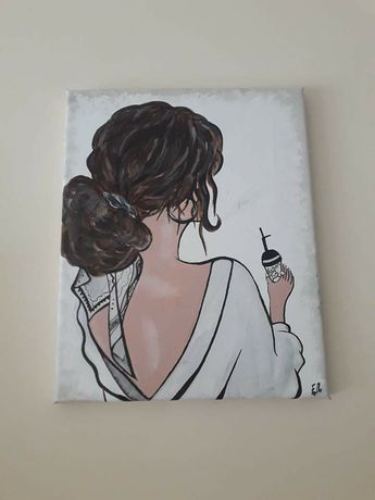 Картина -жена в гръб
