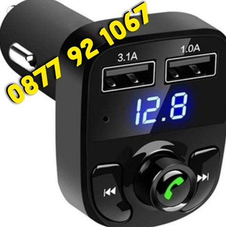Bluetooth FM трансмитер с 2 Usb Handsfree transmitter Зарядно за кола