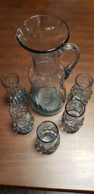 Cana sticla cu pahare