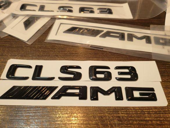 Черна емблема гланц AMG CLS63 C63 S63